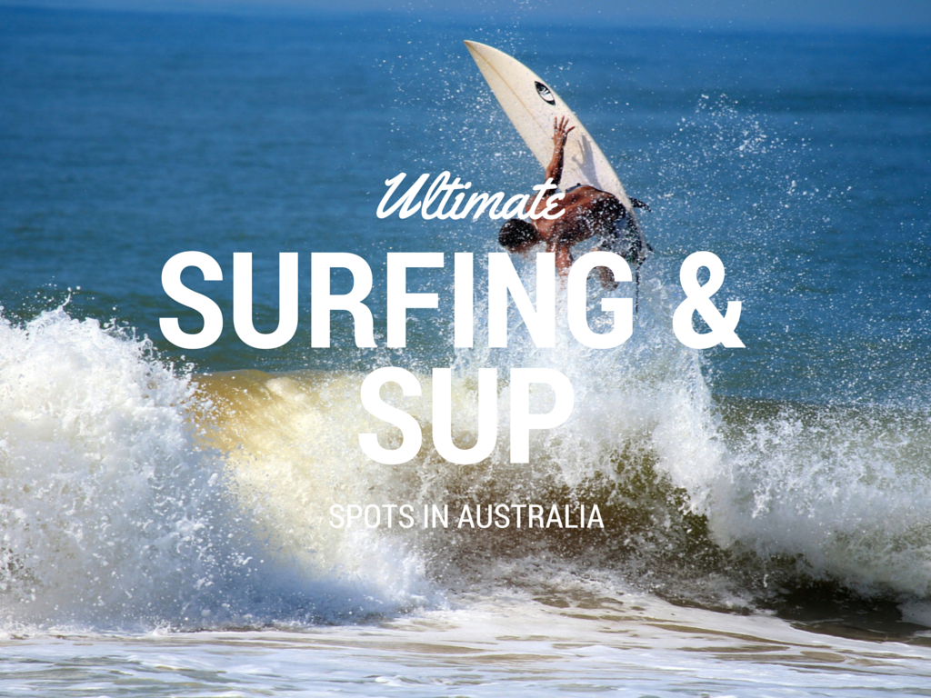 surfing and stand up paddle boarding in Australia